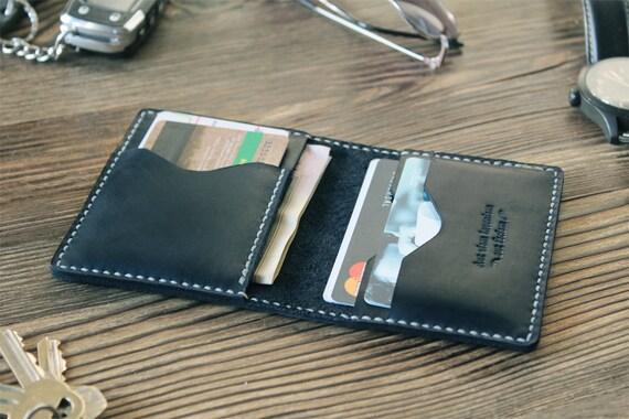 Boyfriend Gift Credit Card Holder Wallet Mens Wallet By Zebstamp