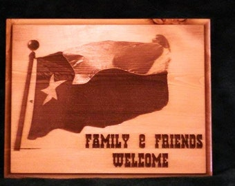 Texas Flag Welcome Sign