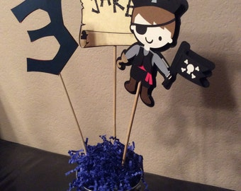 Pirate Centerpiece, Pirate Paty Decoration