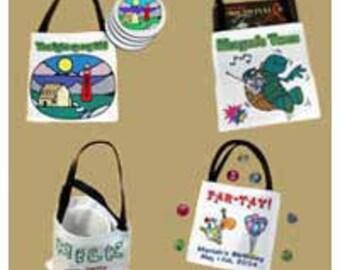 Personalize Mini Tote Bags