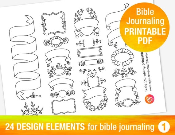 24 PRINTABLE TEMPLATES For Bible Journaling By