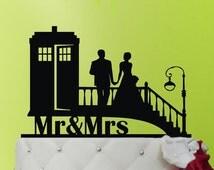 Wedding Cake Topper TARDIS - TARDIS Wedding cake topper  - Doctor Who Wedding - Doctor Who Wedding Cake Topper