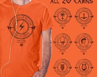 Camp Half Blood All 20 Cabins t shirt Percy Jackson and the Olympians Demigod men unisex boy girl shirt