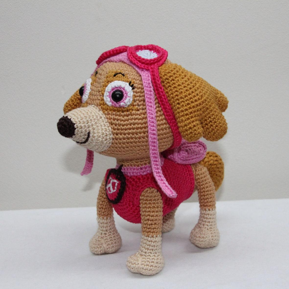 Amigurumi inspired by Skye Paw Patrol US/NL crochet pattern