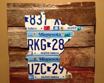 Minnesota License Plate Wall Hanging