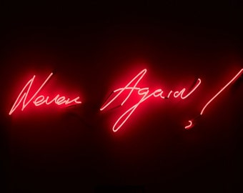 NEVER AGAIN! neon sign