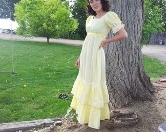 Summer Seventies Butter Yellow Dress