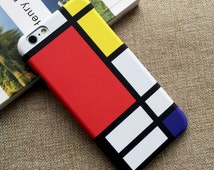 Red Blue & Yellow by Mondrian iPhone 6 Case, iPhone 6s Case