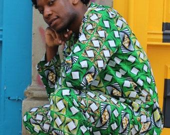 African Top - African Shirt - Hamed Top - Colourful Shirt - African Wax Print Pullover - African Clothing - festival Shirt - Summer Shirt