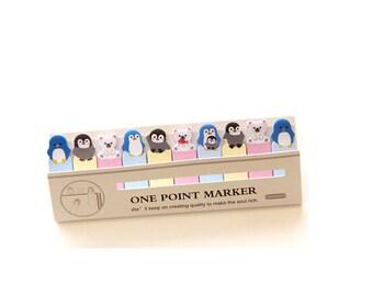 Penguin Sticky Notes / Cute Sticky Notes / One Point Marker / Sticky Notes / Kawaii Stationery / Kawaii Stationery / Bookmark / Kawaii