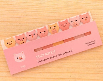 Pig Sticky Notes / Pig Stationery / Kawaii / Cute Stationery / Cute Gifts / Cute Sticky Notes / Oink / Stationary / Reminders / Footnotes