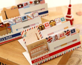 Travel Sticky Notes / Stick & Memo / Cute Stationery / Kawaii Sticky Notes / Travel / Office Supplies / Planner / Planner Sticky Notes
