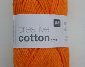 Rico Creative Cotton Aran Tangerine 076
