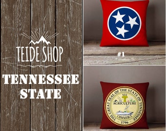 Tennessee State Pillowcase Tennessee Flag Home Decor Nashville Memphis Throw Pillow Cover Native American Gift Patriotic