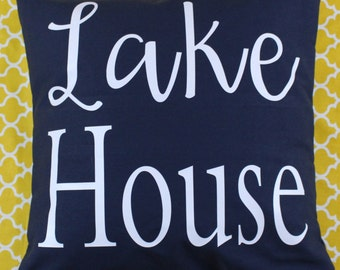 16x16 Lake House Pillow Cover