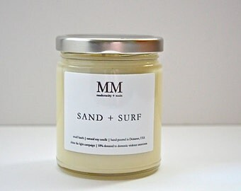 SAND + SURF // natural soy candle // hand-poured // small batch