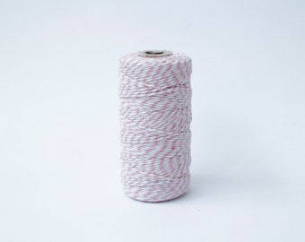Pink and White Twine - 110 yards