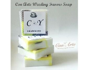 Soaps Initials Wedding Favors