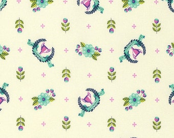 TULA PINK Slow and Steady Winner's Circle in Blue Raspberry PWTP089.Bluer - cotton fabric quilting cotton freespirit derby champion cup