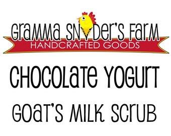 Chocolate Yogurt Scrub Bar