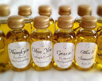 100 Olive Oil infused w/thyme Wedding Favors