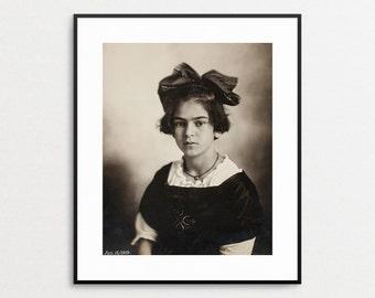 Frida Kahlo 1919- Vintage Photo Reproduction - Frida Kahlo Print - Frida Kahlo Photograph - Wall Art - Frieda Kahlo - Freida Kahlo