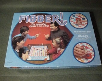 Fibber by Maruca Industries Incomplete 1986 Vintage Family Board Game