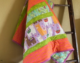 For The Love Of Llamas Baby Quilt
