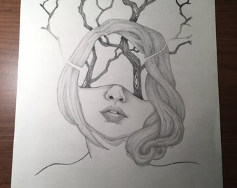"Original Drawing-- ""Wilderness"""