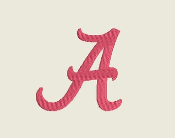 "Alabama Inspired Embroidery Machine Design in 5 sizes (1, 2, 3, 4 & 5"") - INSTANT DOWNLOAD - Item #4013"