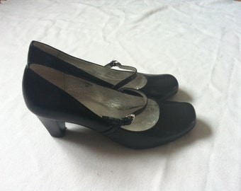 Dancing shoes 60s EUR size 37 or US 6.5 black leather