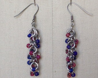 Beaded Shaggy Loops Earrings