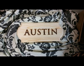 Wood Burning  personalized  - Last Names- wedding Dates - Own Sayings