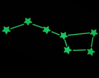 "Set for creativity ""Сonstellation"" stickers glow in the dark stars"