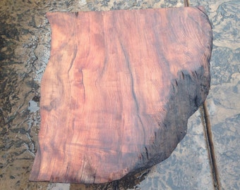 SOLD Rustic Redwood Live Edge End Table
