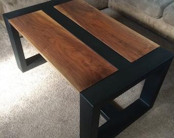 Handmade Wood & Steel Coffee Table