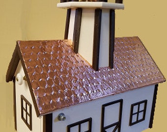Amish Poly Lighthouse Mailbox (Copper Top Series)