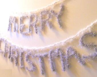 Merry Christmas Retro Banner / Retro Banner / Christmas Silver Retro / Wires Christmas banner / Retro Christmas Banner