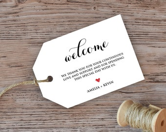 Welcome bag tags | Etsy