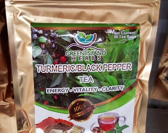 Tumeric and Black Pepper Tea - 30 Satchels