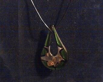 glass teardrop pendant