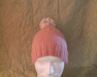 Pink Hat with Pom Pom
