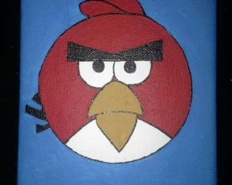Red from Angry Birds, acrylic hand painted