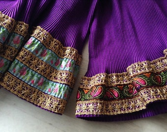 Hand-sewn vintage skirt inspired by the traditional Italian costume