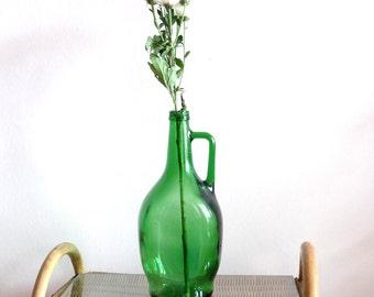 Vintage vase , green vase,US half galeon