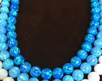 8MM round beads created opal (synthetic opal)