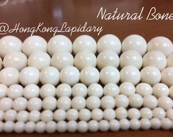 Natural bone beads choose from 3mm,4mm,5mm,6mm,8mm,10mm,12mm