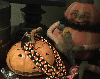 Candy Corn and Pumpkin Parade Dog Collars