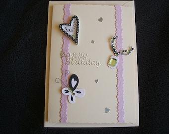 Handmade Birthday card Butterfly