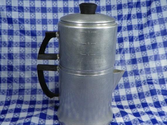 Wear Ever 8 Cup Coffee Percolator Tea Pot Pour-Over Drip